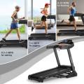 3.75HP Electric Folding Treadmill with Auto Incline 12 Program APP Control