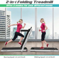 2 in 1 2.25 HP Under Desk Electric Installation-Free Folding Treadmill with LED Display