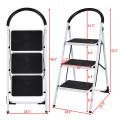Heavy Duty Industrial Lightweight Folding Stool 3 Step Ladder