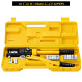 16 Ton Cable Lug Hydraulic Wire Terminal Crimper with Dies