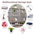 72 Inch Steel Storage Shelf with 5 Levels Adjustable Shelves
