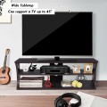 3-Tier TV Stand Storage Console with Storage Shelves