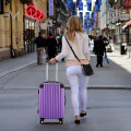 """GLOBALWAY 20"""" Expendable ABS Luggage Travel Bag Trolley Suitcase"""