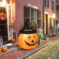 4' Halloween Inflatable Pumpkin Lantern with Hat