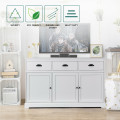 3 Drawers Sideboard Buffet Storage with Adjustable Shelves