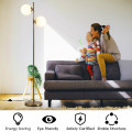"""65"""" LED Floor Lamp with 2 Light Bulbs & Foot Switch"""