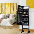 Mirrored Jewelry Cabinet Armoire Organizer with LED lights