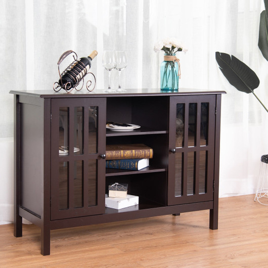 Wooden TV Stand Console Cabinet for 45