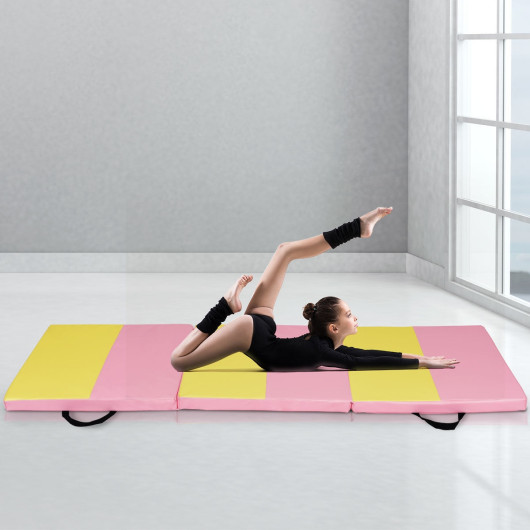 6' x 2' Folding Fitness Exercise Carry Gymnastics Mat