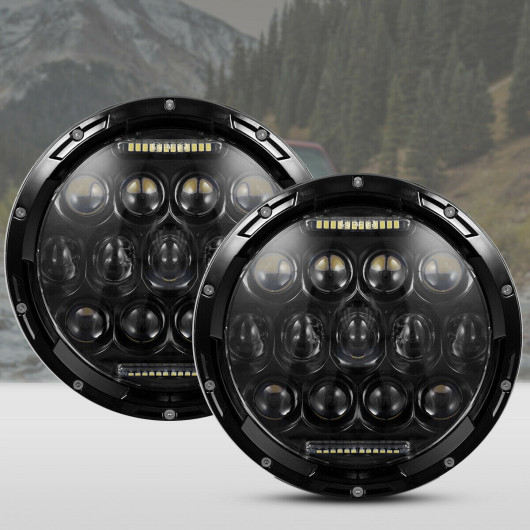 2 pcs LED Round Headlight 7