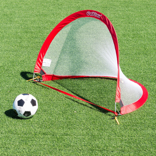 Set of 2 Portable 4' Pop-up Soccer Goals Set w/ Carrying Bag